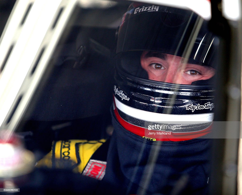 <a gi-track='captionPersonalityLinkClicked' href=/galleries/search?phrase=Austin+Dillon&family=editorial&specificpeople=5075945 ng-click='$event.stopPropagation()'>Austin Dillon</a>, driver of the #2 Rheem Chevrolet, sits in his car during practice for the NASCAR XFINITY Series Hisense 4K TV 300 at Charlotte Motor Speedway on May 27, 2016 in Charlotte, North Carolina.