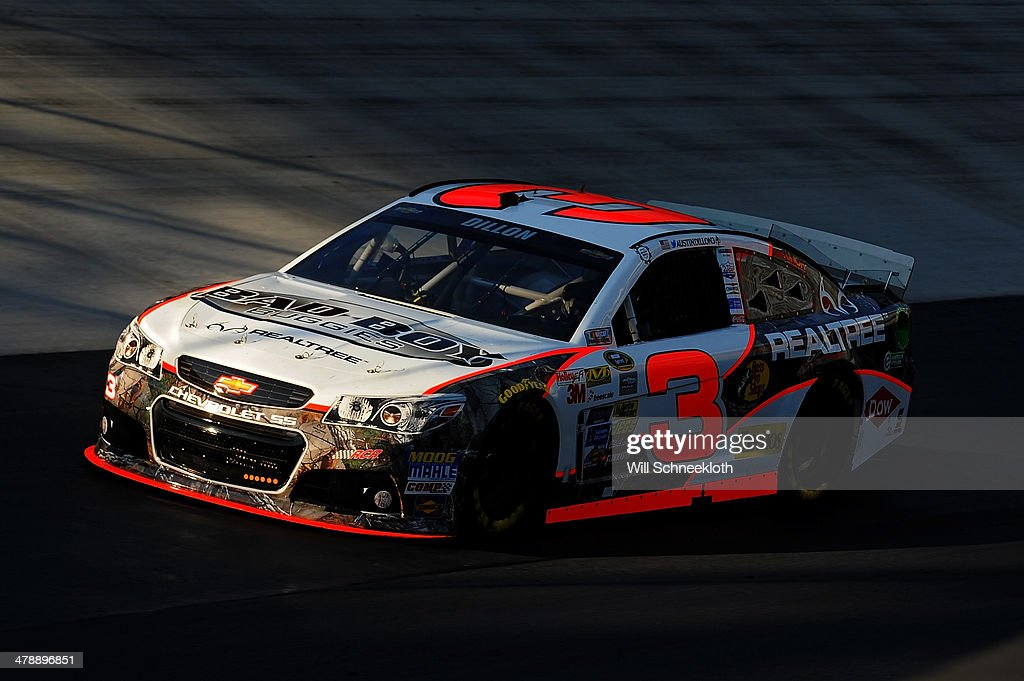 Austin Dillon drives the #3 Bad Boy Buggies/Realtree Chevrolet during practice for the NASCAR Sprint Cup Series Food City 500 at Bristol Motor Speedway on March 15, 2014 in Bristol, Tennessee.