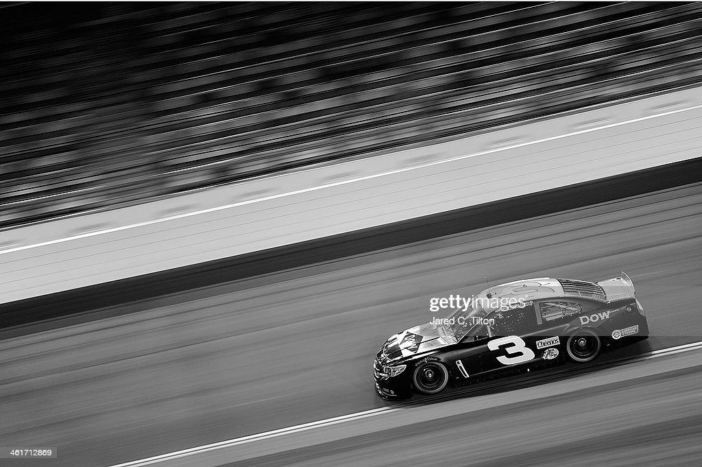 Austin Dillon drives the #3 Dow Chevrolet during NASCAR Preseason Thunder at Daytona International Speedway on January 10, 2014 in Daytona Beach, Florida.