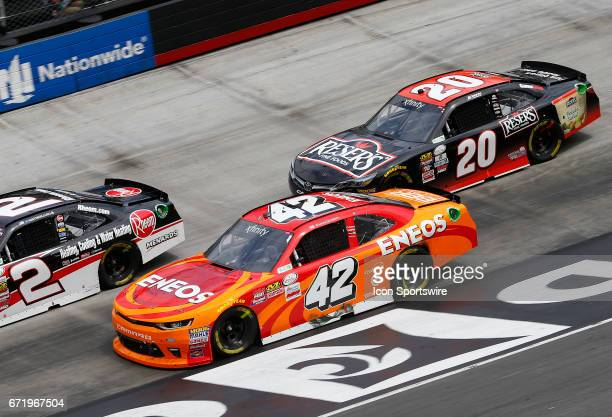 Austin Dillon Kyle Larson and Erik Jones Reser's American Classic Toyota Camry during the Fitzgerald Glider Kits 300 NASCAR Xfinity Series race on...