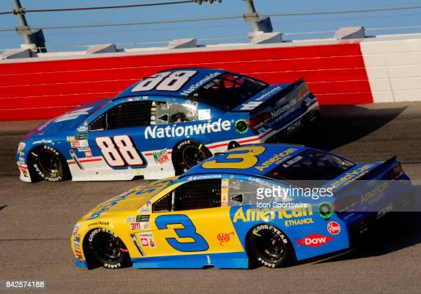 Austin Dillon Richard Childress Racing E15 American Ethanol Chevrolet SS and Dale Earnhardt Jr Nationwide Insurance Chevrolet SS during the Bojangles...