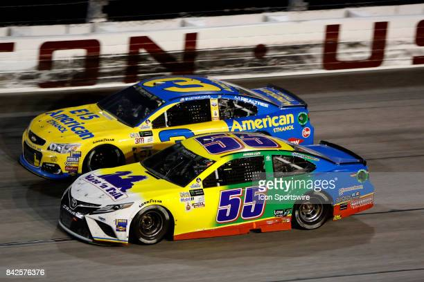 Austin Dillon Richard Childress Racing E15 American Ethanol Chevrolet SS and Derrick Cope Premium Motorsports Mane n Tail/Straight Arrow Chevrolet SS...