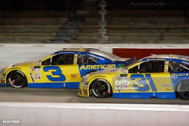 Austin Dillon Richard Childress Racing E15 American Ethanol Chevrolet SS and Ryan Newman Richard Childress Racing Caterpillar Chevrolet SS during the...