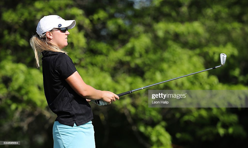 <a gi-track='captionPersonalityLinkClicked' href=/galleries/search?phrase=Austin+Ernst&family=editorial&specificpeople=9091725 ng-click='$event.stopPropagation()'>Austin Ernst</a> hits her tee shot on the sixteenth hole during the second round of the LPGA Volvik Championship on May 27, 2016 at Travis Pointe Country Club Ann Arbor, Michigan.