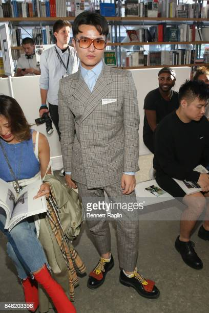 Austin Feng attends Calvin Luo fashion show during New York Fashion Week The Shows at The Whitney Museum of American Art on September 12 2017 in New...