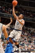 Austin Freeman of the Georgetown Hoyas drives to the basket during a college basketball game against the DePaul Blue Demons on January 1 2011 at the...