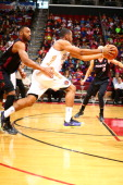 Austin Freeman of the Iowa Energy drives past the Sioux Falls Skyforce defense in an NBA DLeague game on February 6 2014 at the Wells Fargo Arena in...