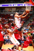 Austin Freeman of the Iowa Energy drives to the basket against the Rio Grande Valley Vipers in an NBA DLeague game on April 12 2014 at the Wells...
