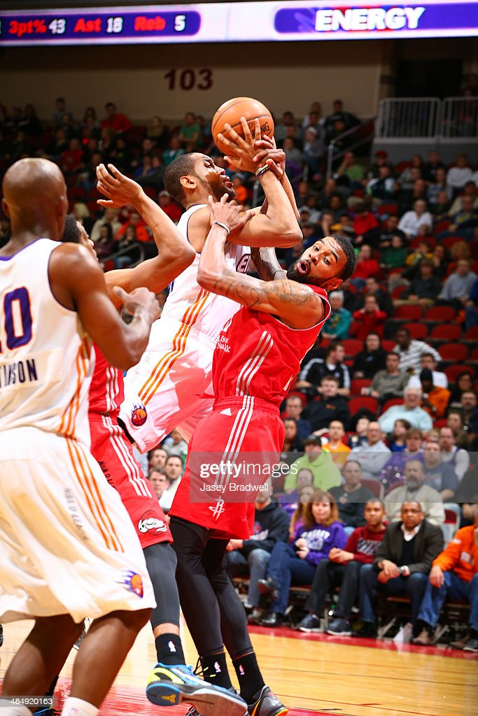 Austin Freeman of the Iowa Energy gets fouled in the paint by the Rio Grande Valley Vipers in an NBA DLeague game on April 14 2014 at the Wells Fargo...