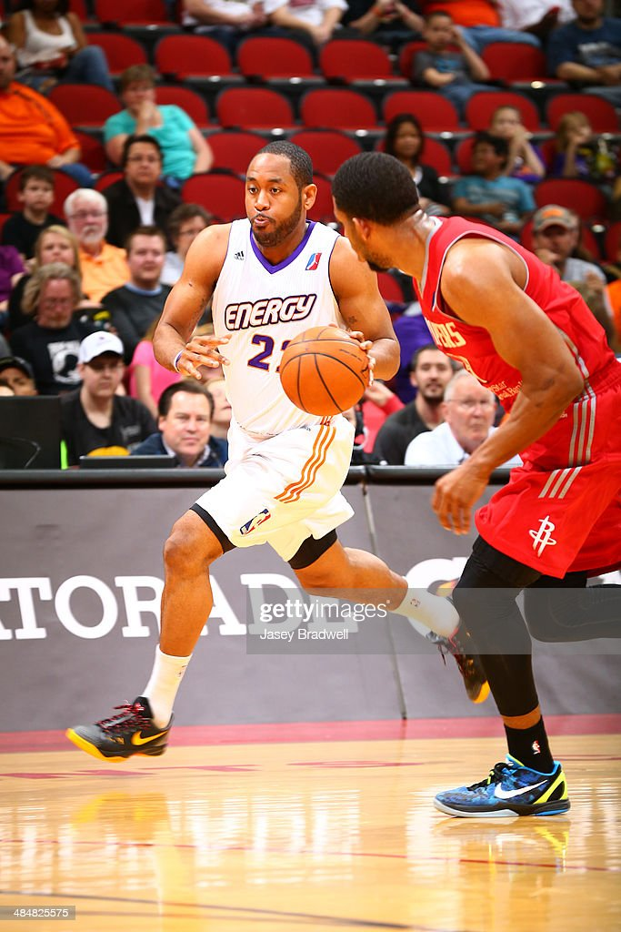 Austin Freeman of the Iowa Energy hustles the ball down the court against the Rio Grande Valley Vipers in an NBA DLeague game on April 12 2014 at the...