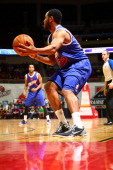 Austin Freeman of the Iowa Energy receives a pass in the corner against the Fort Wayne Mad Ants in an NBA DLeague game on January 18 2014 at the...