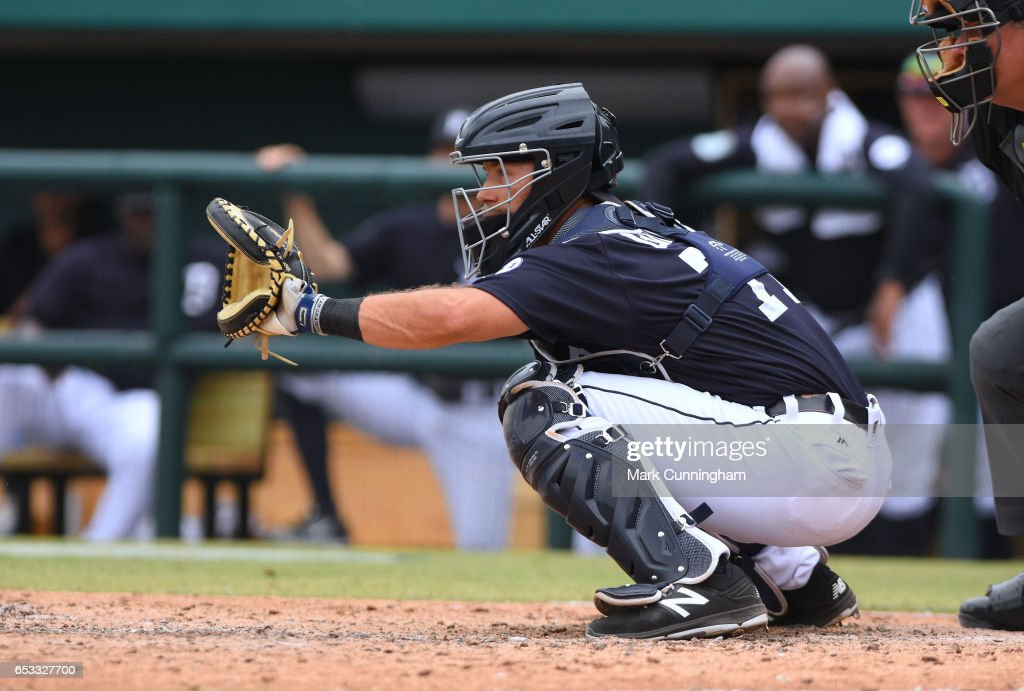 Austin Green #71 of the Detroit Tigers catches during the Spring Training game against the New York Mets at Publix Field at Joker Marchant Stadium on March 12, 2017 in Lakeland, Florida. The Tigers defeated the Mets 4-3.