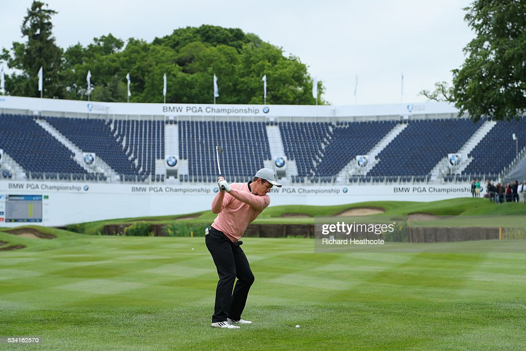 <a gi-track='captionPersonalityLinkClicked' href=/galleries/search?phrase=Austin+Healey&family=editorial&specificpeople=211535 ng-click='$event.stopPropagation()'>Austin Healey</a> hits an approach during the Pro-Am prior to the BMW PGA Championship at Wentworth on May 25, 2016 in Virginia Water, England.
