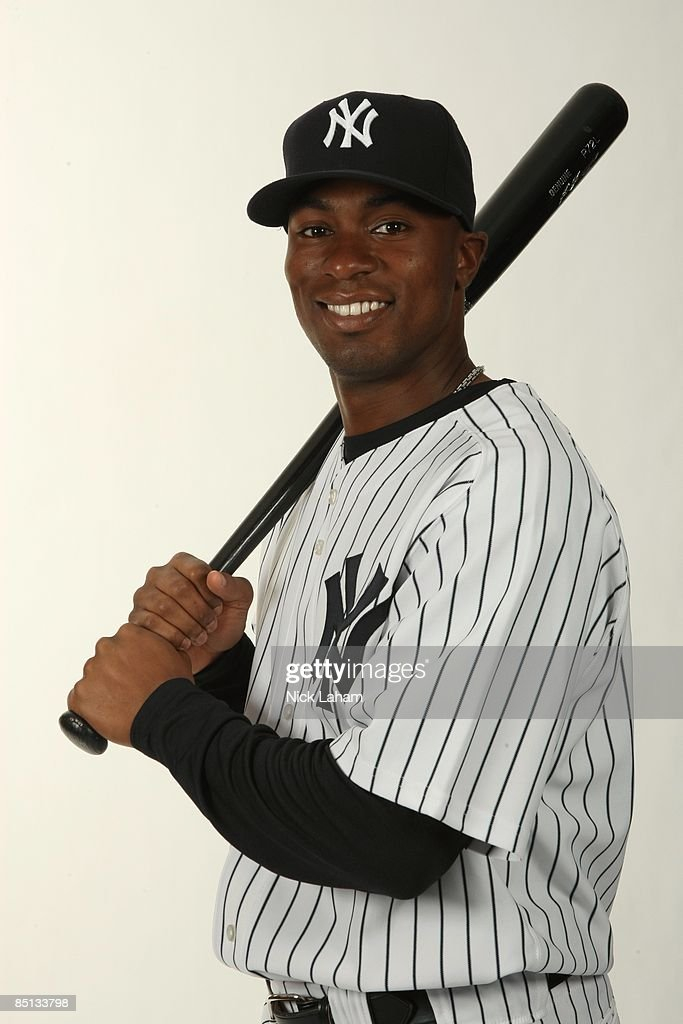 Austin Jackson #82 of the New York Yankees poses during Photo Day on February 19, 2009 at Legends Field in Tampa, Florida.
