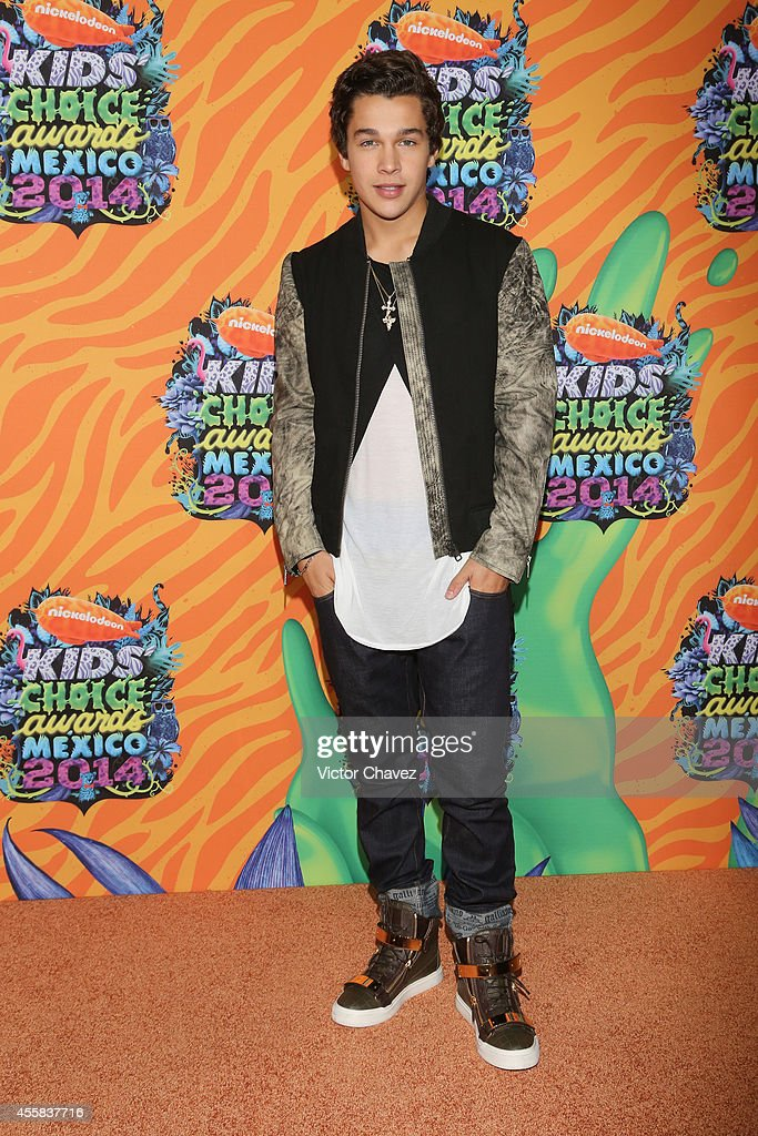 Austin Mahone attends the Nickelodeon Kids' Choice Awards Mexico 2014 at Pepsi Center WTC on September 20 2014 in Mexico City Mexico