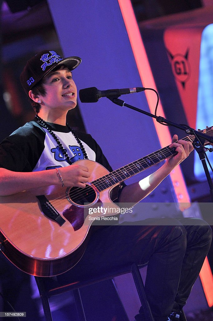 Austin Mahone On New.Music.Live at MuchMusic Headquarters on December 3, 2012 in Toronto, Canada.