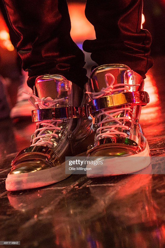 Austin Mahone (Shoe detail) performs during his first UK show onstage at Indigo2 at O2 Arena on June 23, 2014 in London, England.