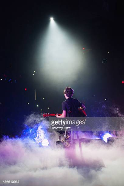 Austin Mahone performs during the B96 Pepsi Jingle Bash at Allstate Arena on December 14 2013 in Chicago Illinois