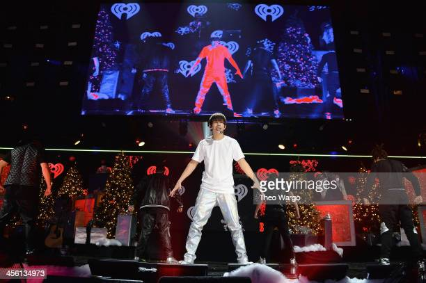 Austin Mahone performs onstage during Z100's Jingle Ball 2013 presented by Aeropostale at Madison Square Garden on December 13 2013 in New York City