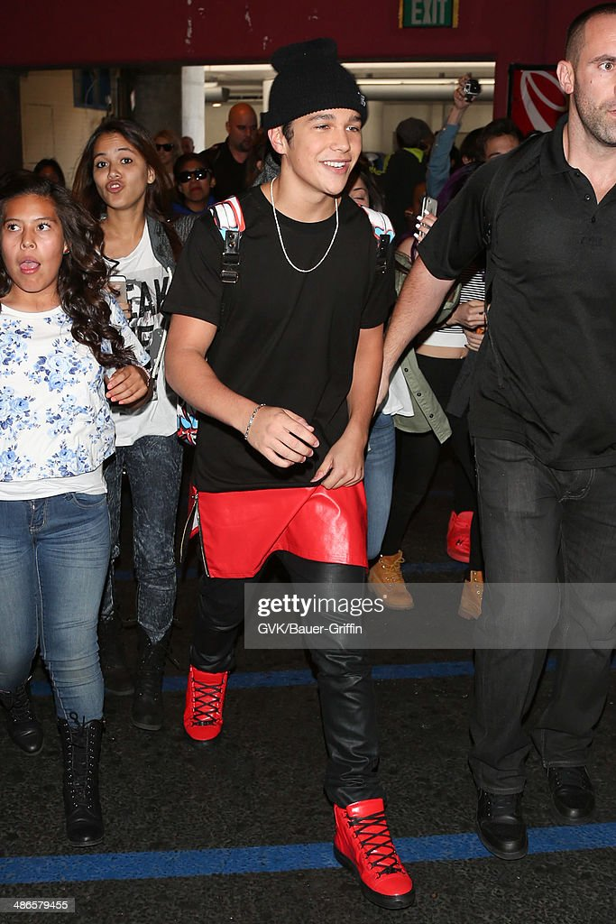 Austin Mahone seen at LAX on April 24, 2014 in Los Angeles, California.