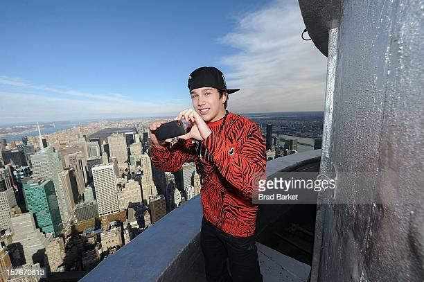 Austin Mahone visits at The Empire State Building on December 5 2012 in New York City
