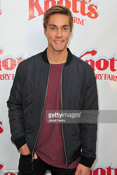 Austin North attends Knott's Merry Farm Countdown to Christmas Tree Lighting at Knott's Berry Farm on December 5 2015 in Buena Park California