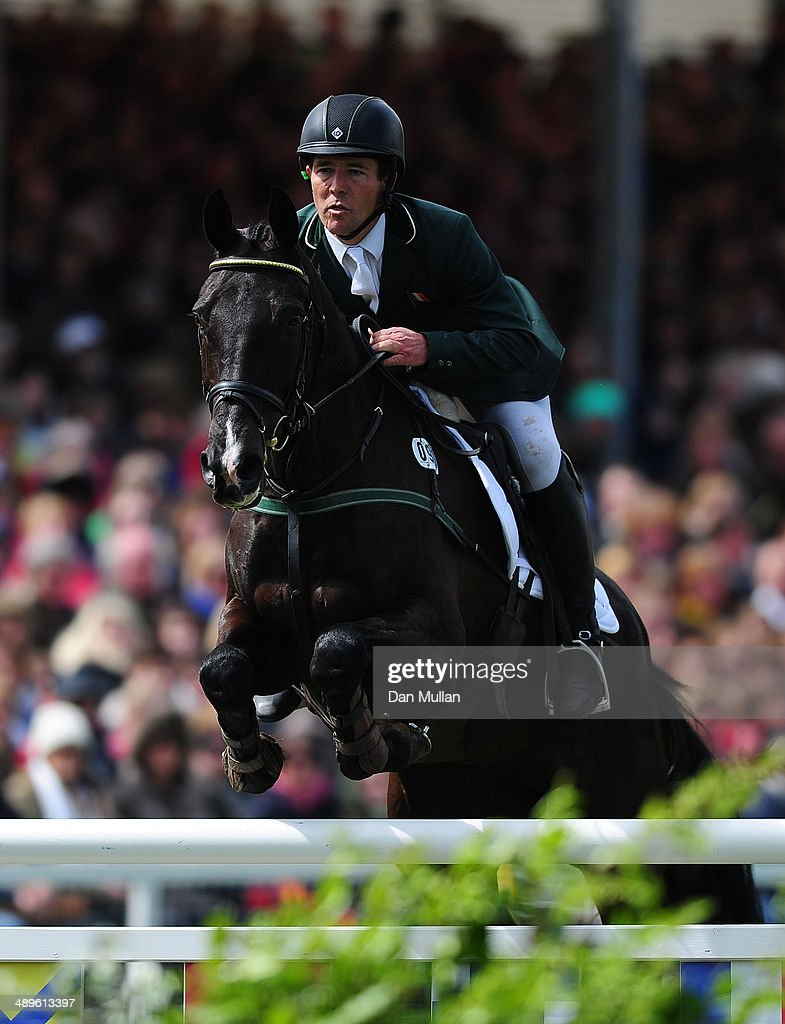 Austin O'Connor of Ireland riding Ringwood Mississippi during the Show Jumping on day five of the Badminton Horse Trials on May 11, 2014 in Badminton, England.