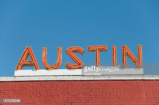 Austin Orange Neon Sign