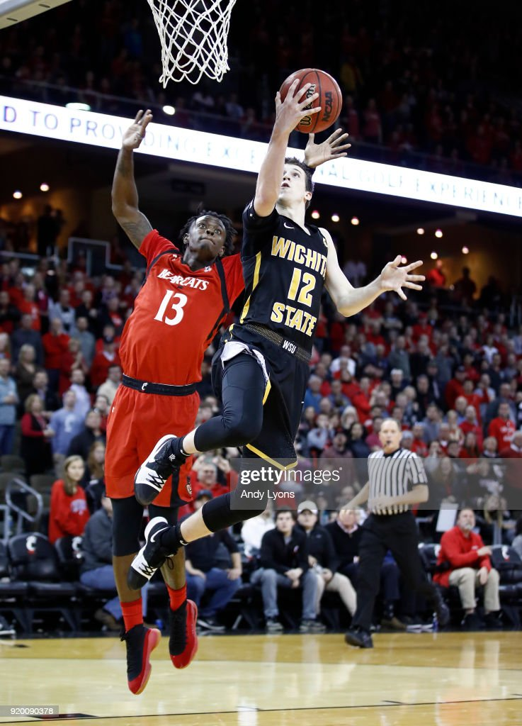 Austin Reaves #12 of the Witchita State Shockers shoots the ball during the 76-72 win over the Cincinnati Bearcats at BB&T Arena on February 18, 2018 in Highland Heights, Kentucky.