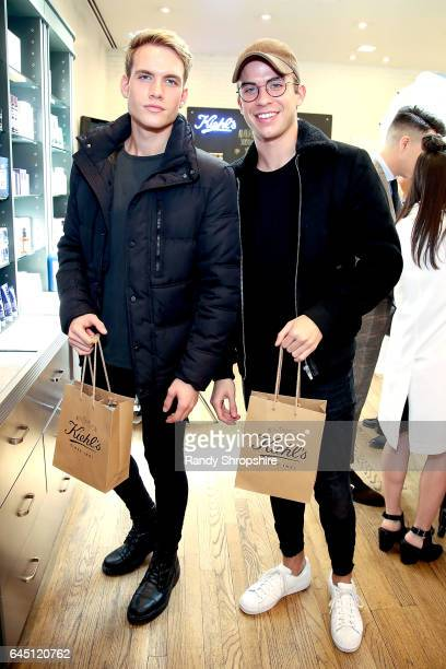 Austin Rhodes and Aaron Rhodes attend Kiehl's LA Influencer event on February 24 2017 in Los Angeles California