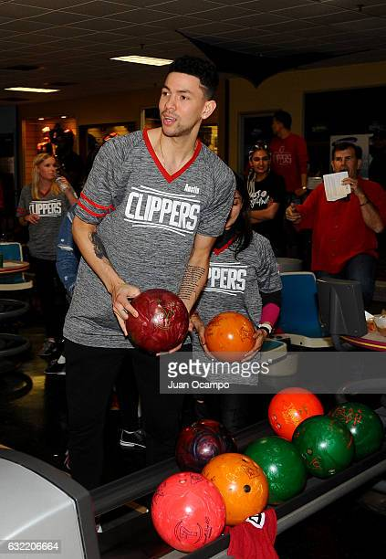 Austin Rivers of the LA Clippers bowls during the LA Clippers Foundation Hosts Annual Charity Basketbowl Challenge Presented by Children's Hospital...