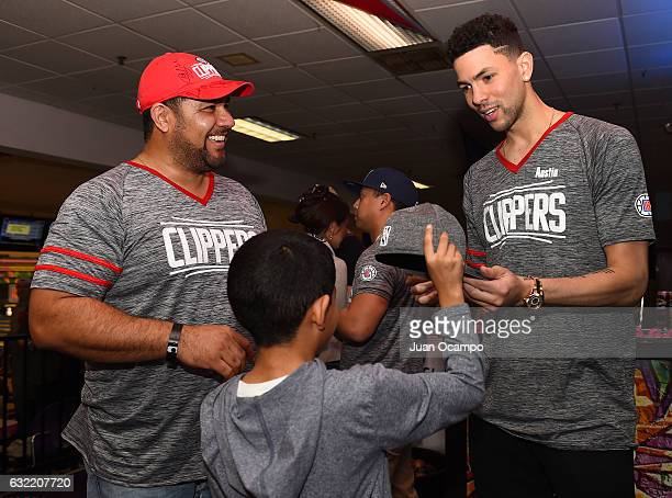 Austin Rivers of the LA Clippers signs autographs during the LA Clippers Foundation Hosts Annual Charity Basketbowl Challenge Presented by Children's...