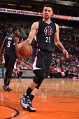 Austin Rivers of the Los Angeles Clippers during the game against the Phoenix Suns on April 13 2016 at Talking Stick Resort Arena in Phoenix Arizona...