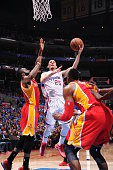 Austin Rivers of the Los Angeles Clippers shoots the ball against the Houston Rockets in Game Three of the Western Conference Semifinals during the...