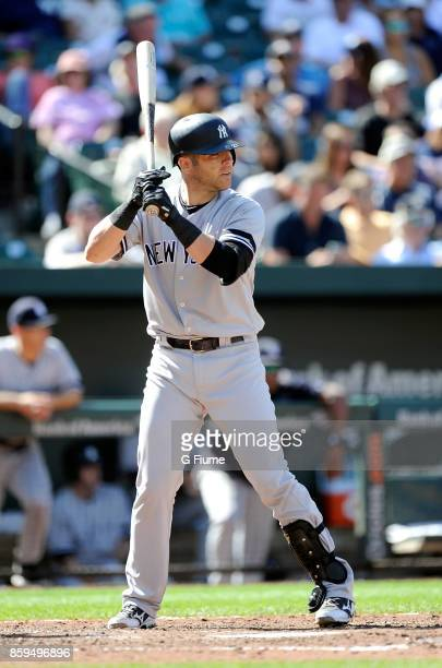 Austin Romine of the New York Yankees bats against the Baltimore Orioles at Oriole Park at Camden Yards on September 7 2017 in Baltimore Maryland