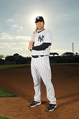 Austin Romine of the New York Yankees poses for a photo during Spring Training Media Photo Day at George M Steinbrenner Field on February 25 2010 in...