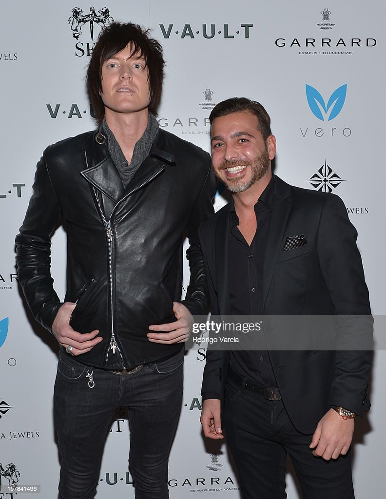 Austin Sands and Yakir Shoshan attend the V.A.U.L.T. Art Basel Party on December 6, 2012 in Miami, Florida.