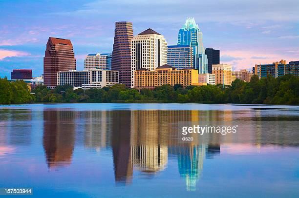 Austin Skyline em sunrise