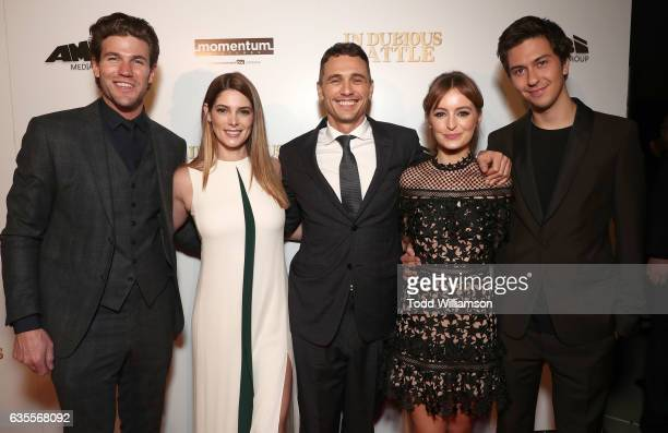 Austin Stowell Ashley Greene James Franco Ahna O'Reilly and Nat Wolff attend the premiere of Momentum Pictures' 'In Dubious Battle' at ArcLight...