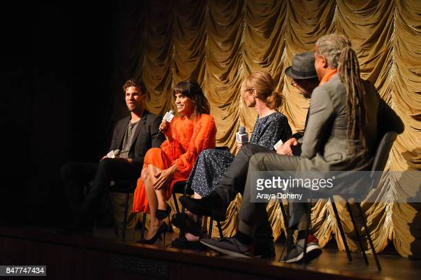 Austin Stowell Natalie Morales Valerie Faris Jonathan Dayton and Elvis Mitchell attend the Film Independent at LACMA screening and QA of 'Battle Of...