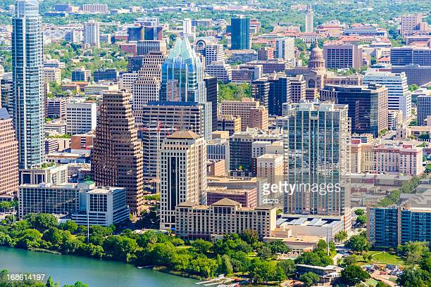 Austin Texas downtown cityscape skyline aerial view