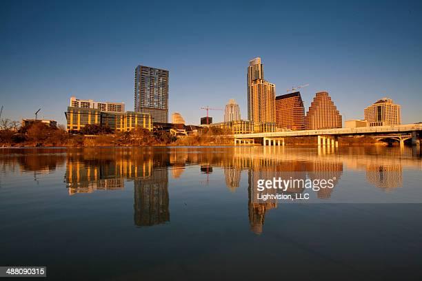 Austin Texas Downtown Skyline Reflection