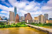 Austin, Texas, USA downtown city skyline.