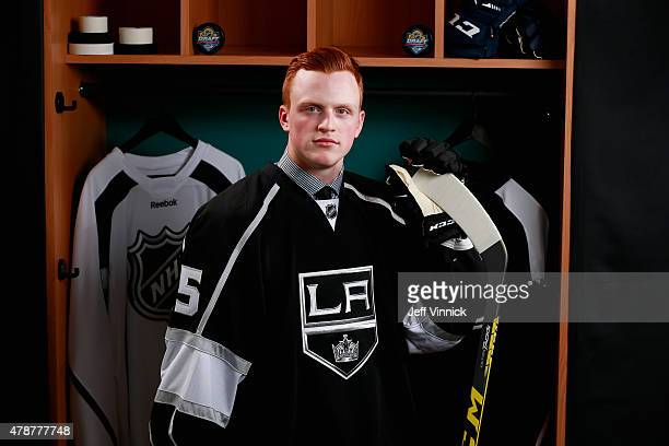Austin Wagner 99th overall pick of the Los Angeles Kings poses for a portrait during the 2015 NHL Draft at BBT Center on June 27 2015 in Sunrise...