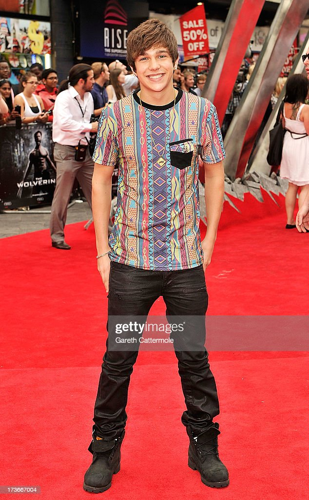 Austine Mahone attends the UK Premiere of 'The Wolverine' at Empire Leicester Square on July 16, 2013 in London, England.