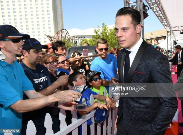 Auston Matthews of the Toronto Maple Leafs attends the 2017 NHL Awards at TMobile Arena on June 21 2017 in Las Vegas Nevada