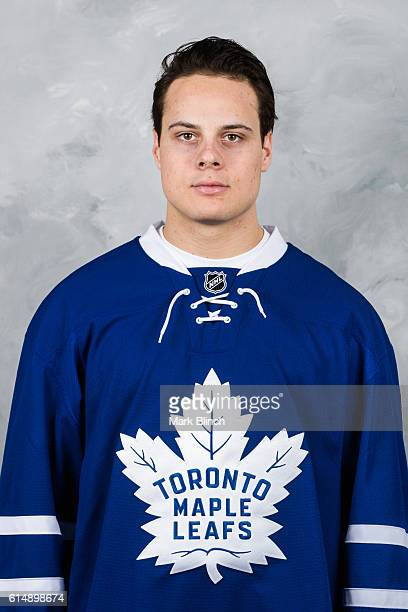 Auston Matthews of the Toronto Maple Leafs poses for his official headshot for 20162017 season at the MasterCard Centre on October 14 2016 in Toronto...
