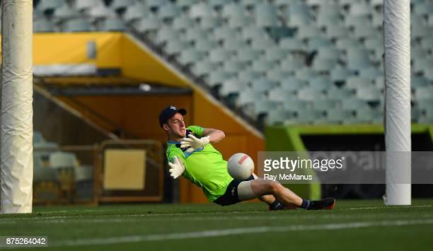 PERTH Australia 17 November 2017 Goalkeeper Niall Morgan during Ireland International Rules Squad Captain's Run at Domain Stadium Subiaco Oval in...