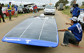 ADELAIDE Australia A solar car of Japan's Tokai University finishes first in Adelaide Australia on Oct 20 winning a fiveday000kilometer solar car...