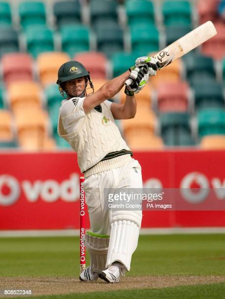 Australia A's Steve O'Keefe during the tour match at the Bellerive Oval Hobart Australia